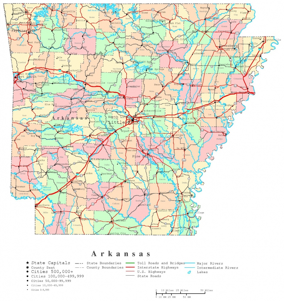Arkansas Printable Map - Printable State Maps