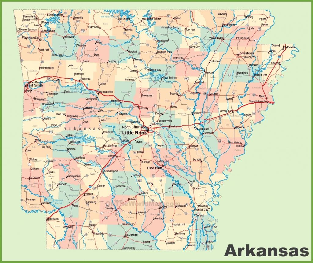 Arkansas Road Map - Printable Map Of Arkansas