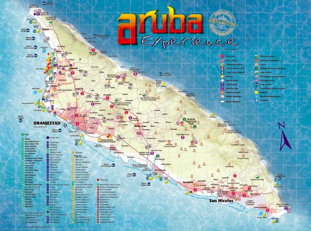 Aruba Maps | Printable Maps Of Aruba For Download - Printable Map Of Aruba