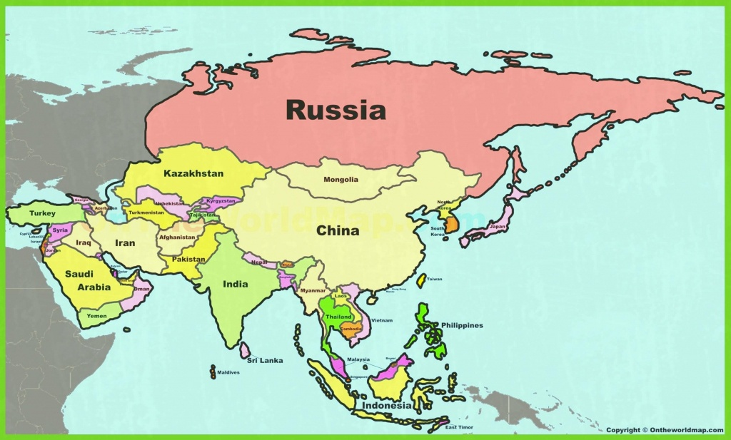 Asia Maps Of And Printable Map With Countries Labeled 0 - World Wide - Printable Map Of Asia