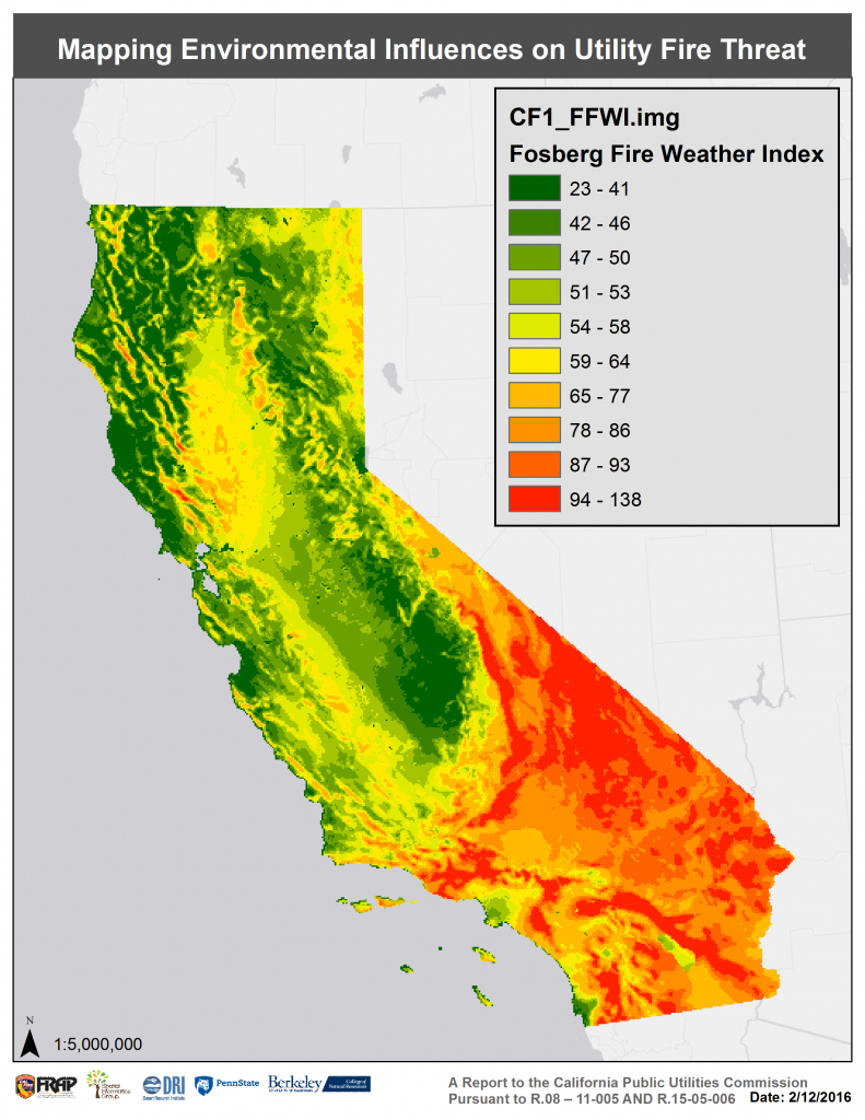 Assessing Extreme Fire Risk For California - Sig - California Wildfire Risk Map