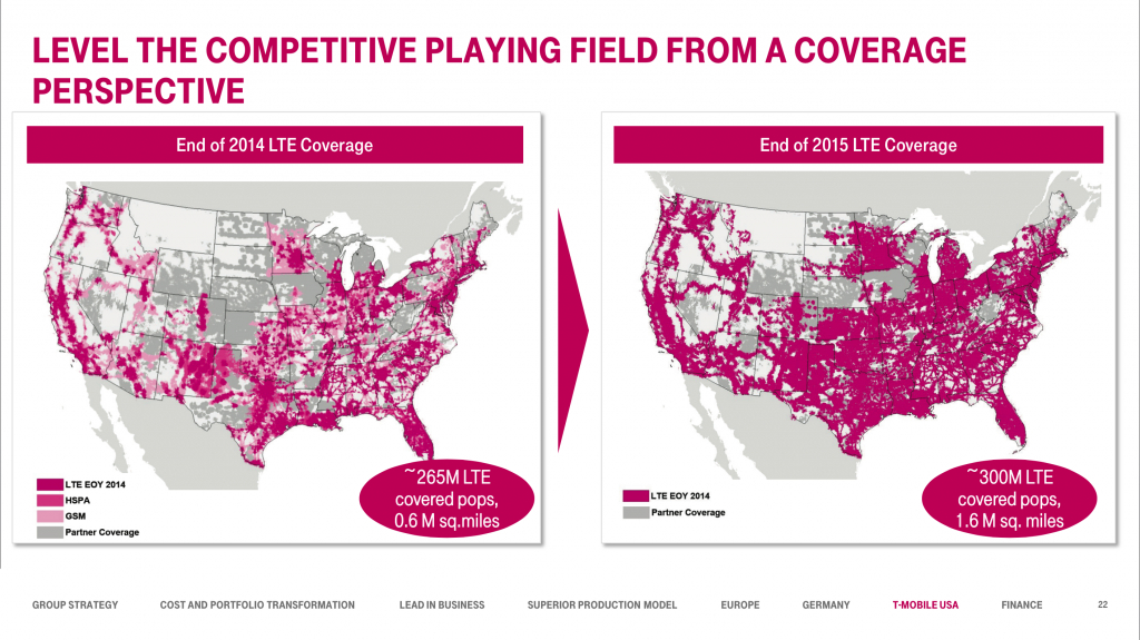 At Dt Capital Markets Day 2015, T-Mobile Revealed The Projected 4G - T Mobile Coverage Map Texas