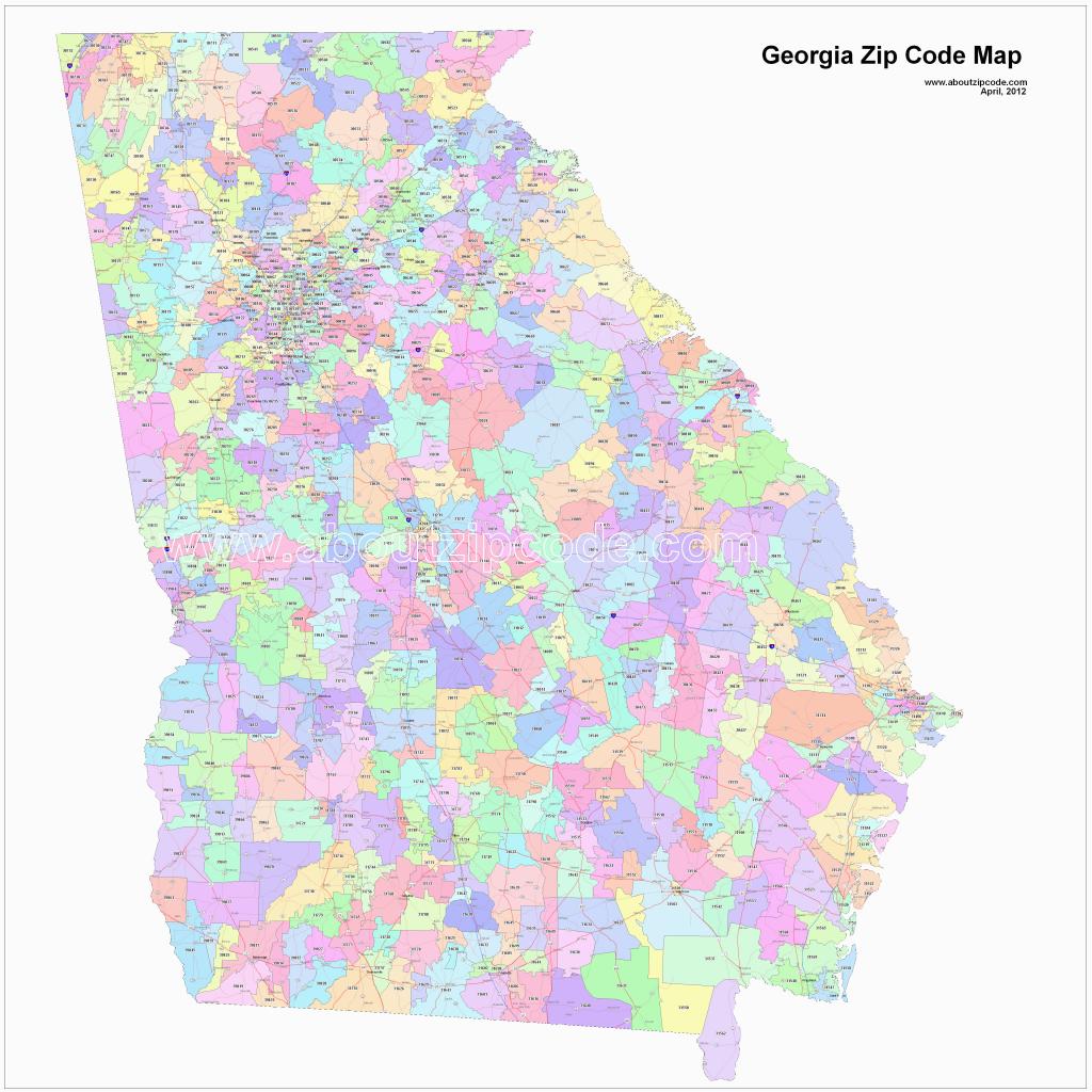 Atlanta Georgia Zip Code Map | Secretmuseum - Atlanta Zip Code Map Printable