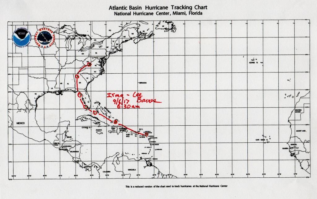 Atlantic Basin Hurricane Tracking Map - Tularosa Basin 2017 - Printable Hurricane Tracking Map 2016
