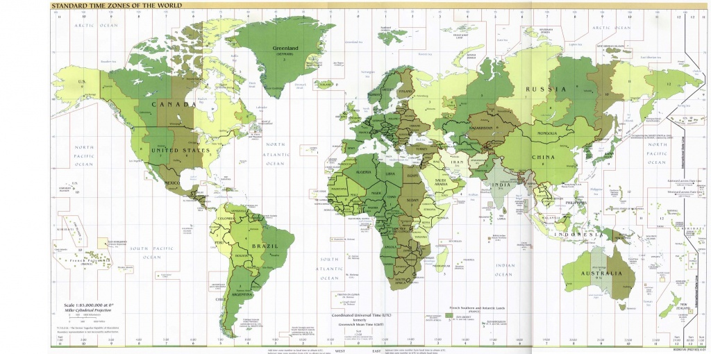 Atlas Map Of The World With Latitude And Longitude - Printable World Map With Latitude And Longitude