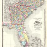 Atlas Of The United States. County Map Of North Carolina, South   Florida North Map