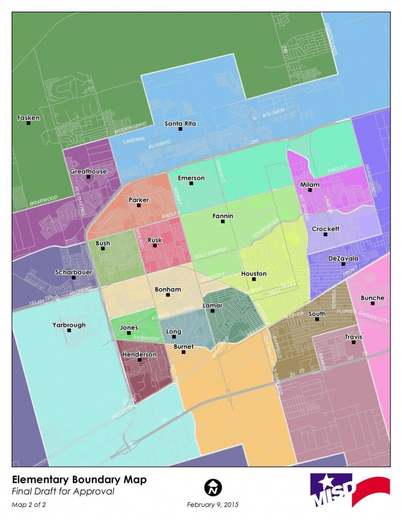 Attendance Zone Maps / Attendance Zone Maps - Map Of Midland Texas And Surrounding Areas