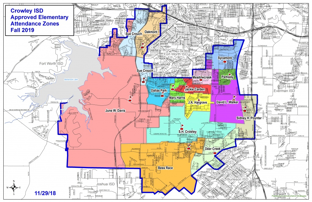 Attendance Zones / Home - Crowley Texas Map
