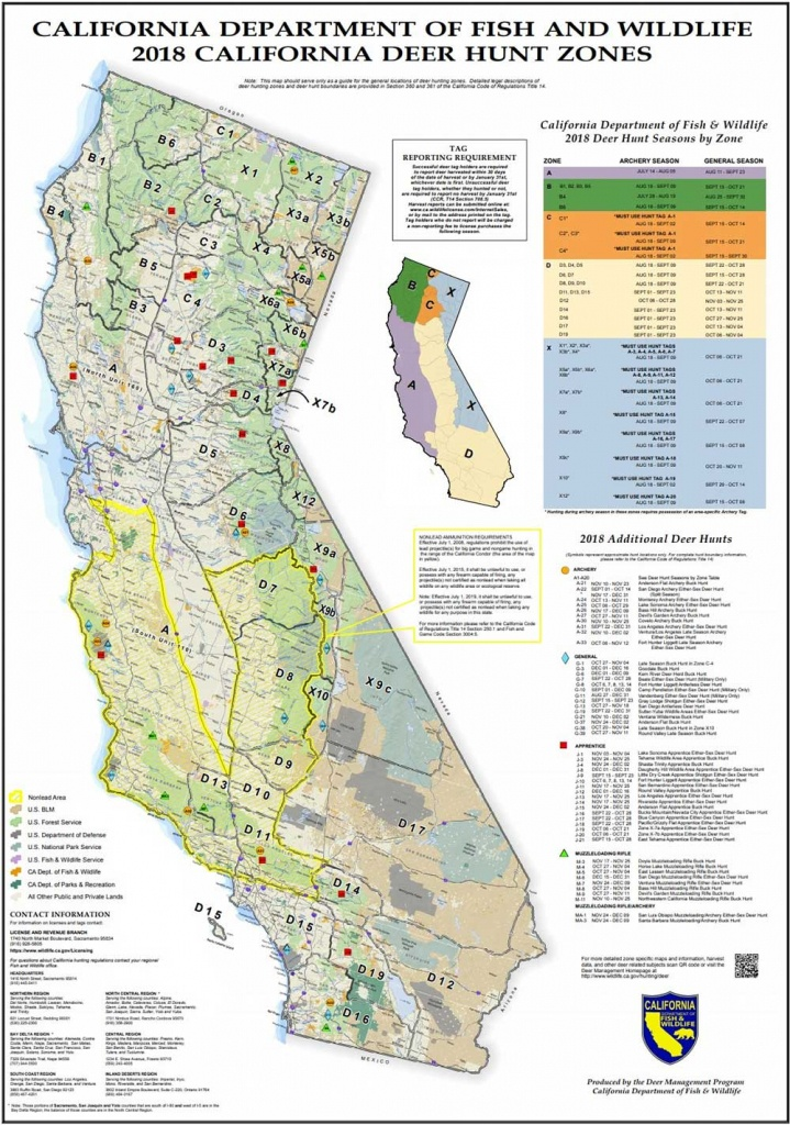 Attn California Hunters: Phase 2 Of Non-Lead Ammunition Requirements - California D8 Hunting Zone Map
