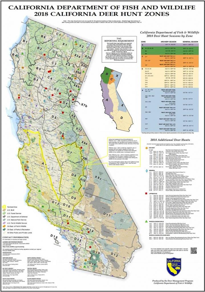 California Deer Zone Map