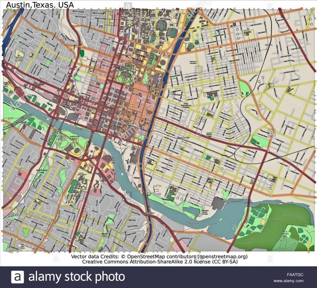 Austin Texas City Map Banque D'images, Photo Stock: 92437196 - Alamy - Austin Texas City Map