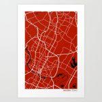 Austin Texas Map Art Printstudiotesouro | Society6   Texas Map Art