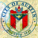 Austin Texas Seal   Austin Map Background   8 X 10 Print   Map Store Austin Texas