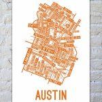 Austin, Texas Street Map Print | Things To Buy | Austin Map, Texas   Printable Map Of Austin Tx