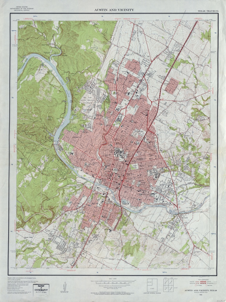 Austin, Texas Topographic Maps - Perry-Castañeda Map Collection - Ut - Interactive Elevation Map Of Texas