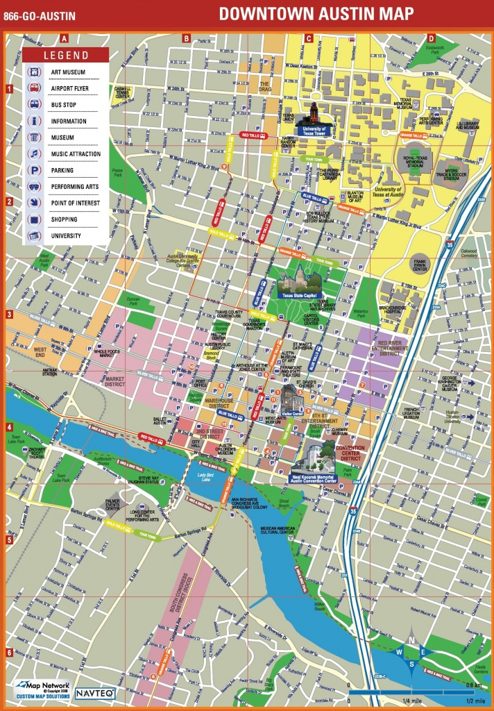 Austin Tourist Attractions Map - Printable Map Of Austin Tx