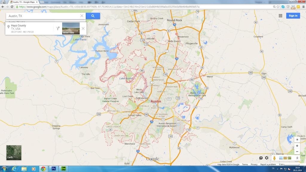 Austin Tx Google Maps And Travel Information   Download Free Austin - Austin Texas Google Maps