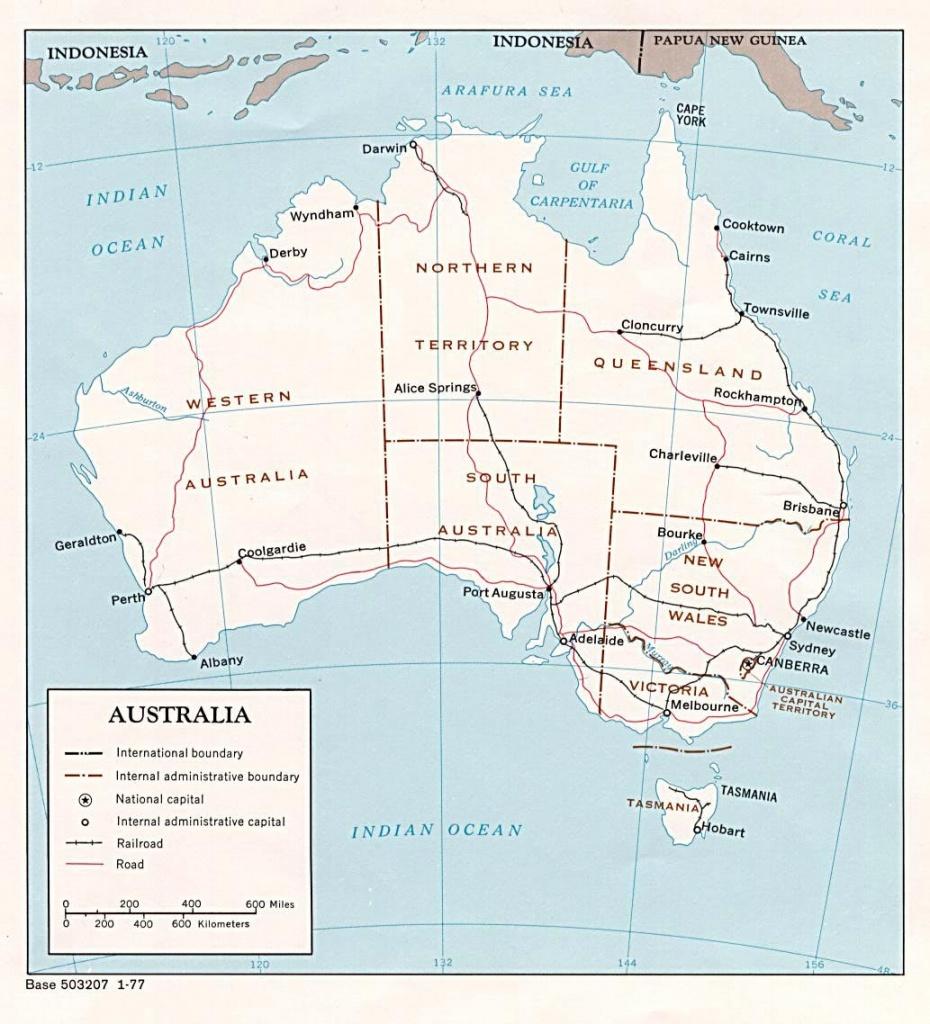 Australia Maps | Printable Maps Of Australia For Download - Printable Map Of Victoria Australia