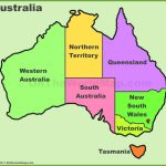 Australia States And Territories Map | List Of Australia States And   Printable Map Of Australia With States