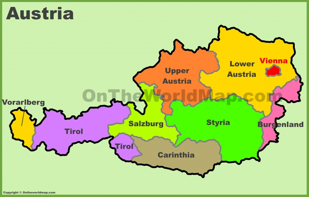 Austria Maps | Map Of Austria - Printable Map Of Austria