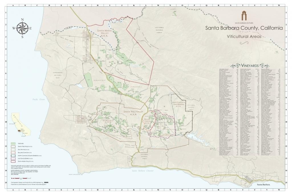 Ava Maps - Santa Barbara Vintners - Santa Maria California Map