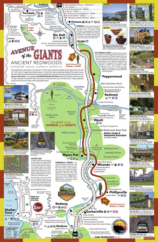 Avenue Of The Giants Map | Sustrainability - Avenue Of The Giants California Map