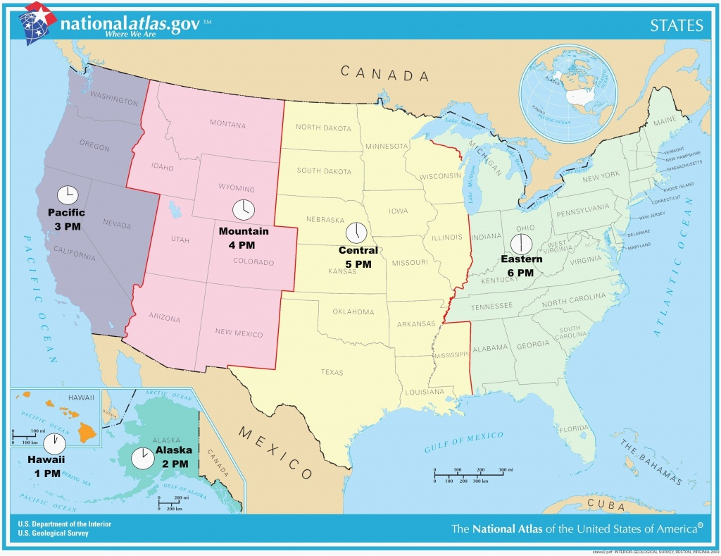Awesome Us Map Of States Timezones Time Zone Map Usa Full Size - Usa Time Zone Map Printable