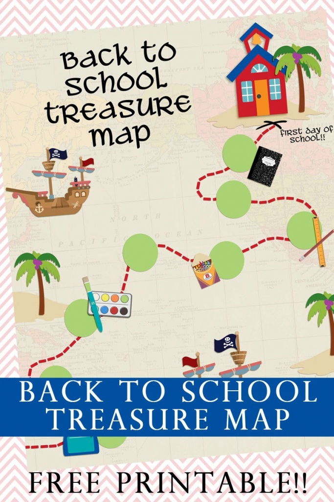Back To School Treasure Map - Your Everyday Family - Printable Kids Pirate Treasure Map