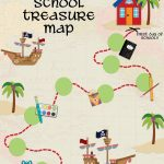 Back To School Treasure Map   Your Everyday Family   Printable Maps For School
