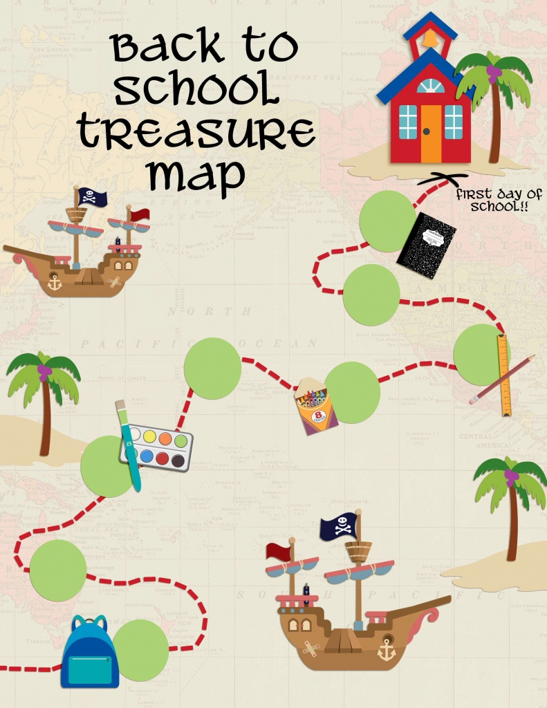 Back To School Treasure Map - Your Everyday Family - Printable Maps For School