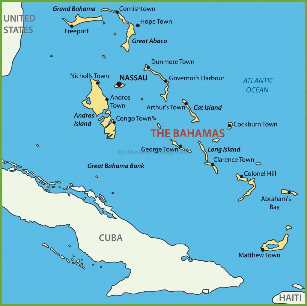 Bahama Islands Map - Map Of Florida And Freeport Bahamas