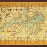 Baitrageous: Map Of Beautiful Lake Conroe In East Texas!   Map Of Lake Conroe Texas