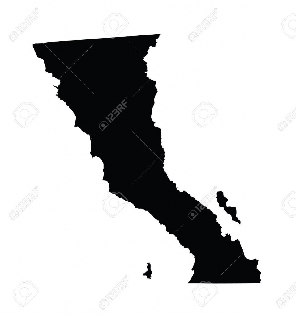 Baja California, Mexico, Vector Map Isolated On White Background - Detailed Baja California Map