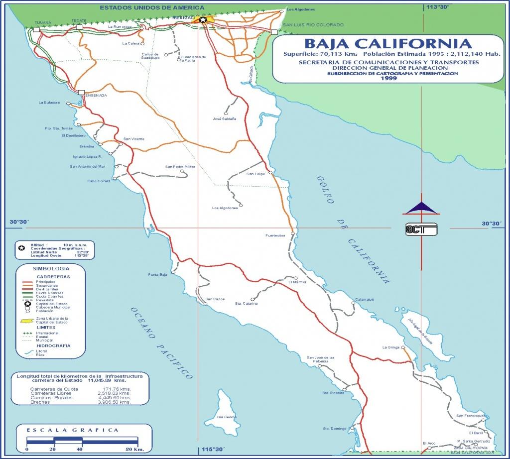 Baja California Road Map Beautiful Baja Mexico Road Map - Diamant - Baja California Road Map