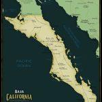 Baja California Sur Limited Edition Map - Maps - Baja California Norte Map