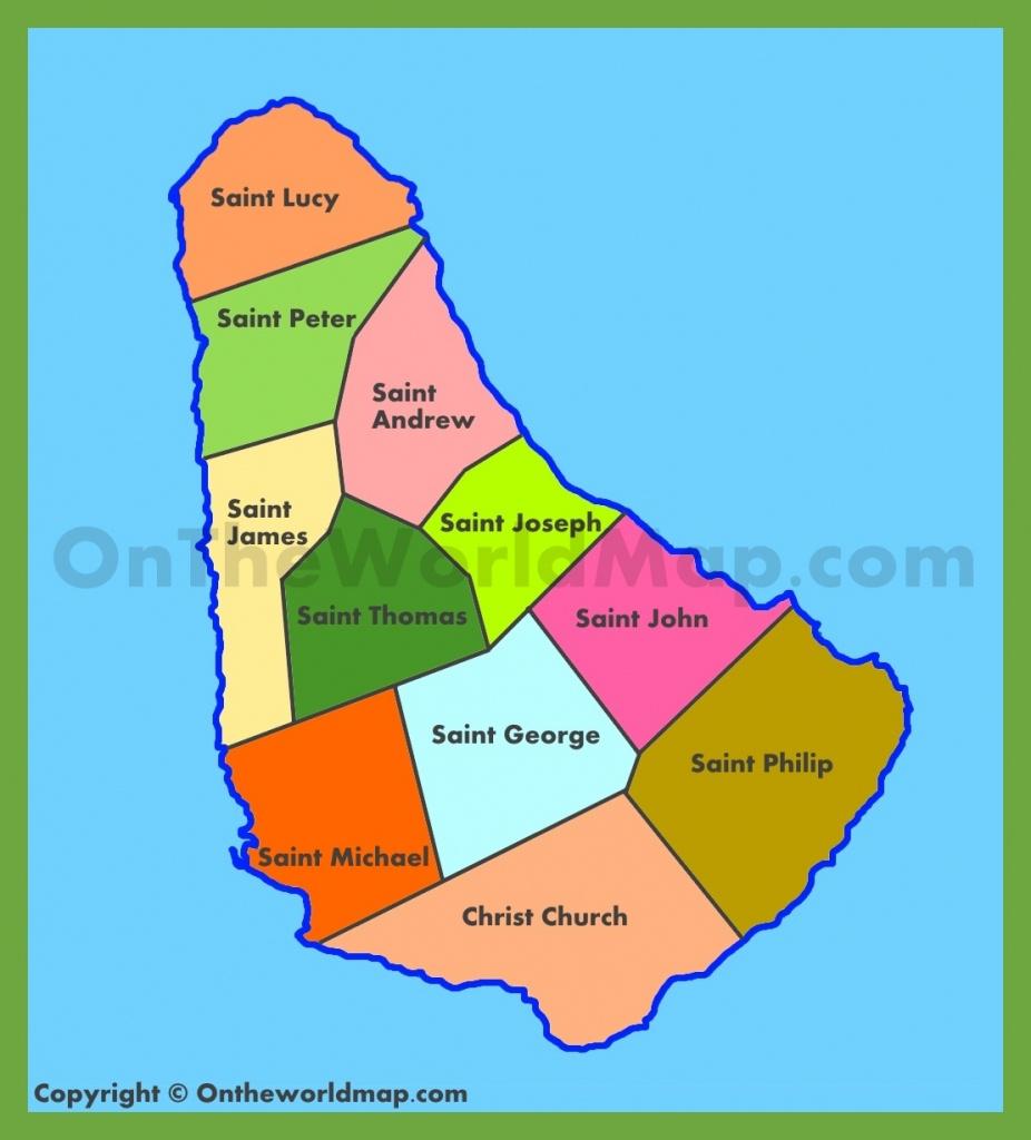 Barbados Maps | Maps Of Barbados - Printable Map Of Barbados