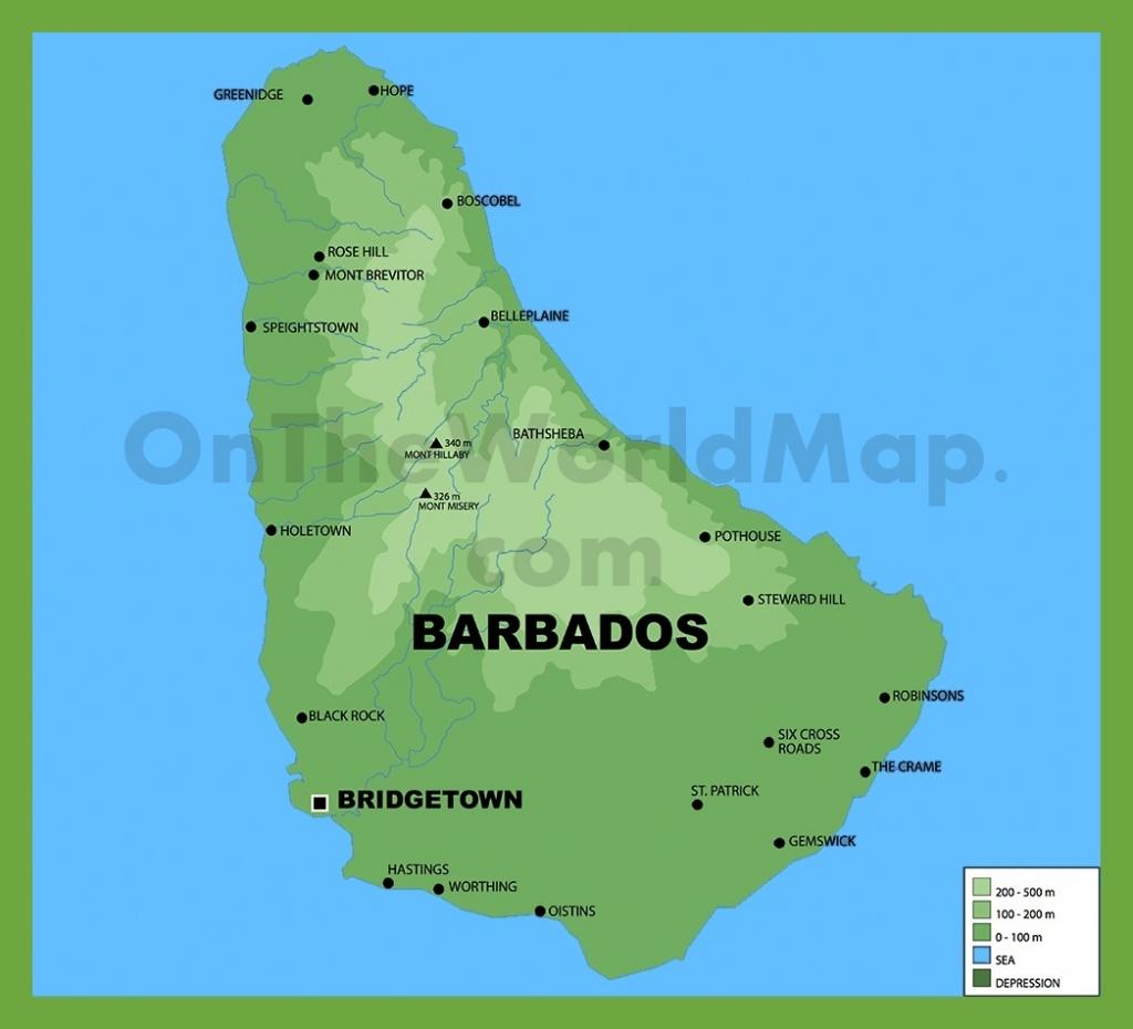 Barbados Maps   Maps Of Barbados - Printable Map Of Barbados