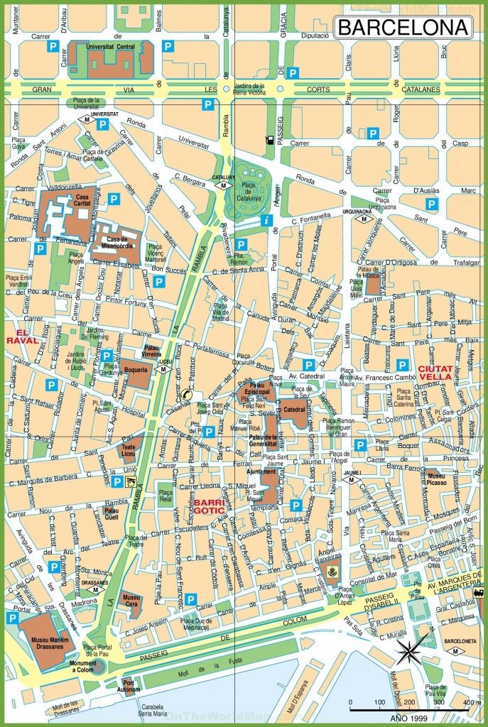 Barcelona City Center Map - Barcelona City Map Printable