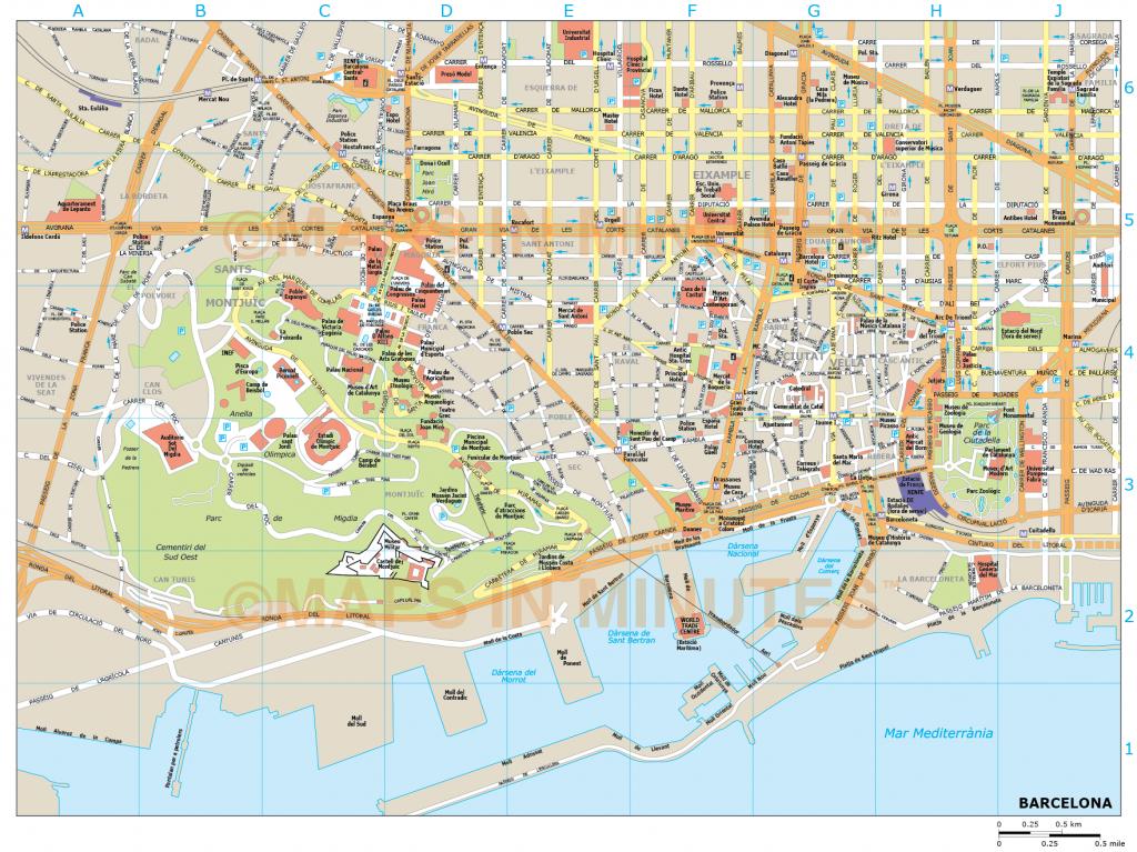Barcelona City Map - Barcelona City Map Printable