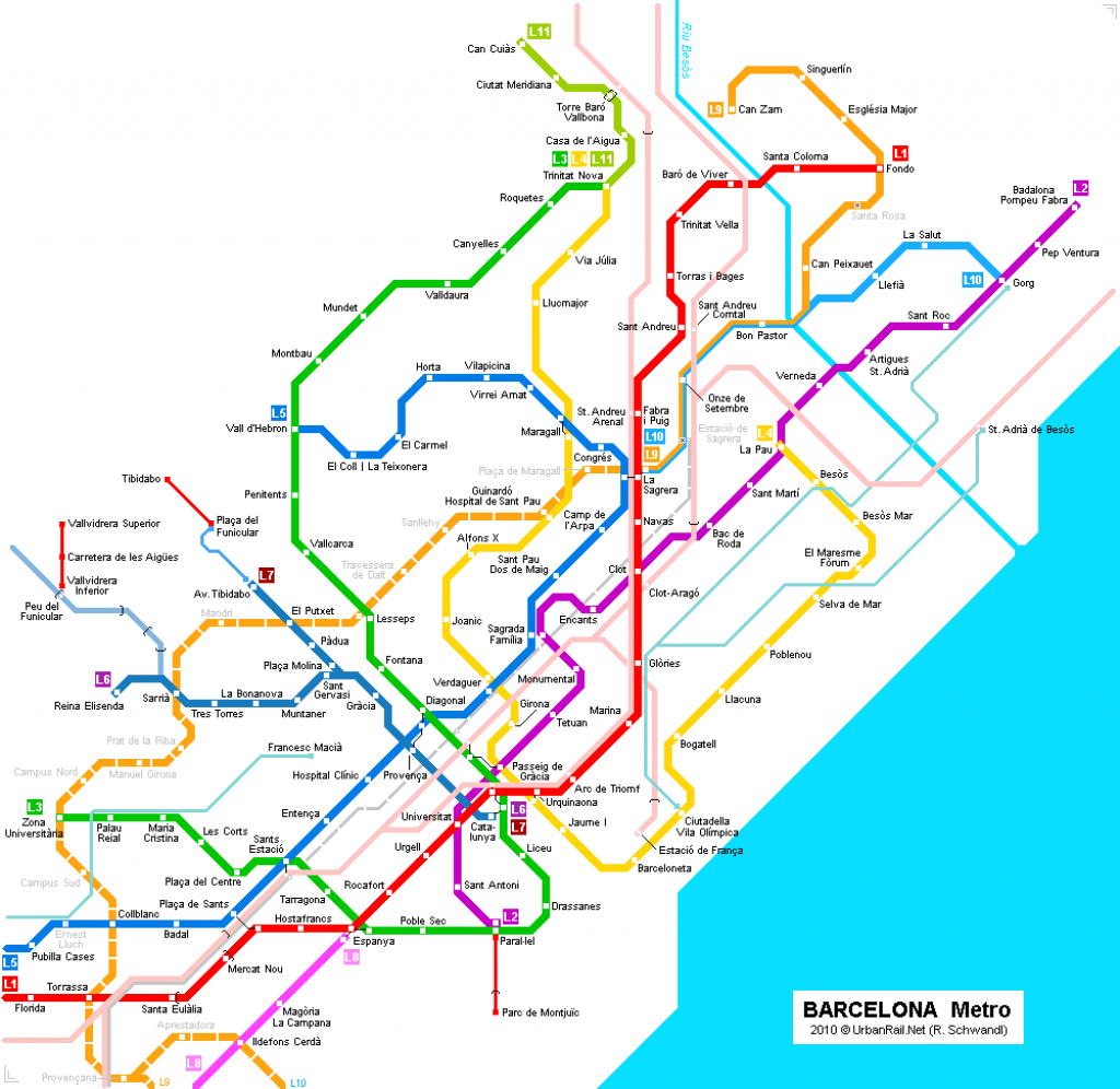 Barcelona Subway Map For Download | Metro In Barcelona - High - Barcelona Metro Map Printable