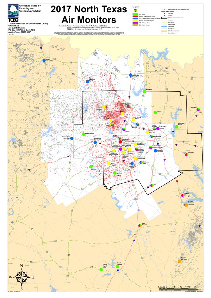 Barnett Shale Maps And Charts - Tceq - Www.tceq.texas.gov - Fracking In Texas Map