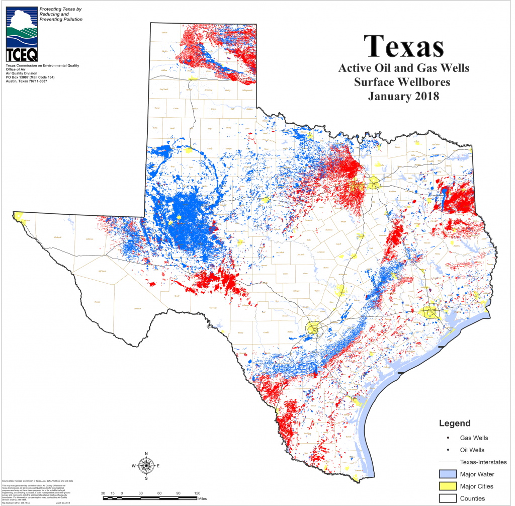 Barnett Shale Maps And Charts - Tceq - Www.tceq.texas.gov - Map Of Drilling Rigs In Texas