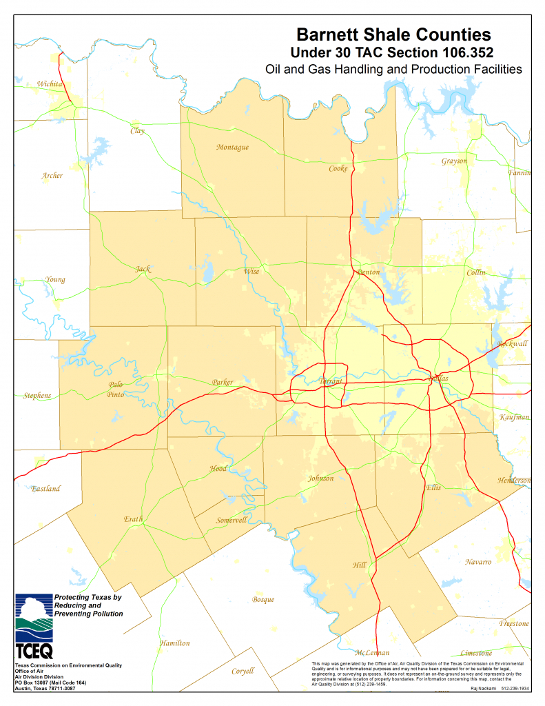 Barnett Shale Maps And Charts - Tceq - Www.tceq.texas.gov - Map Records Dallas County Texas