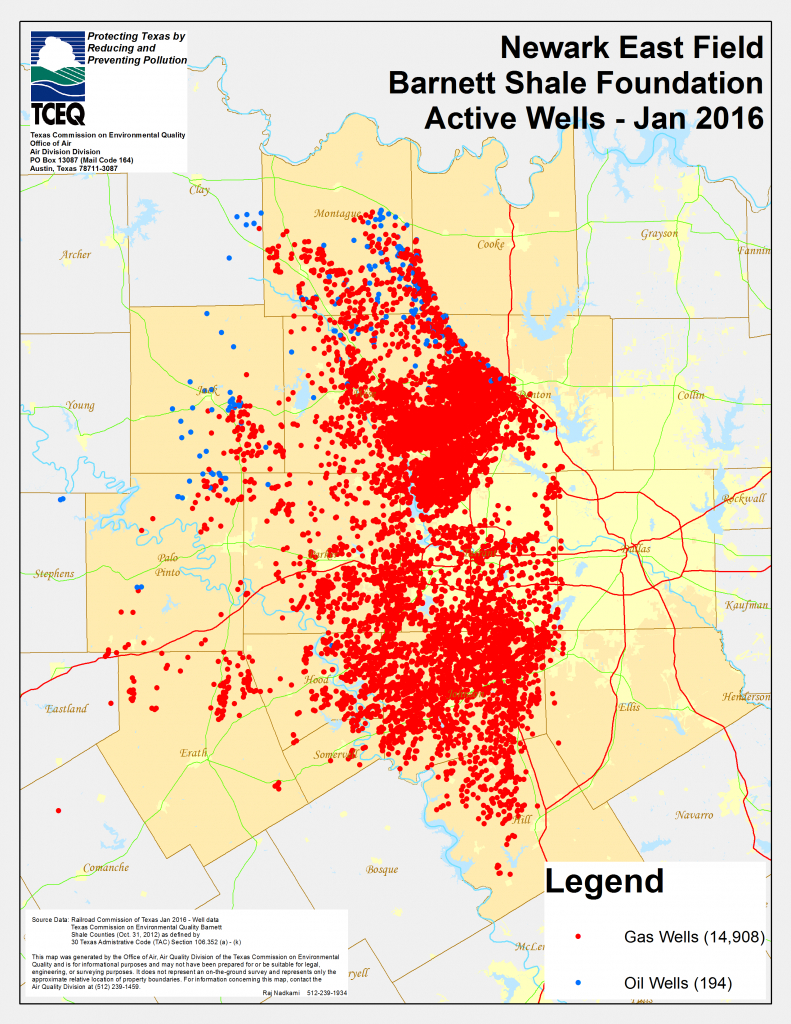 Barnett Shale Maps And Charts - Tceq - Www.tceq.texas.gov - Texas Oil Well Map
