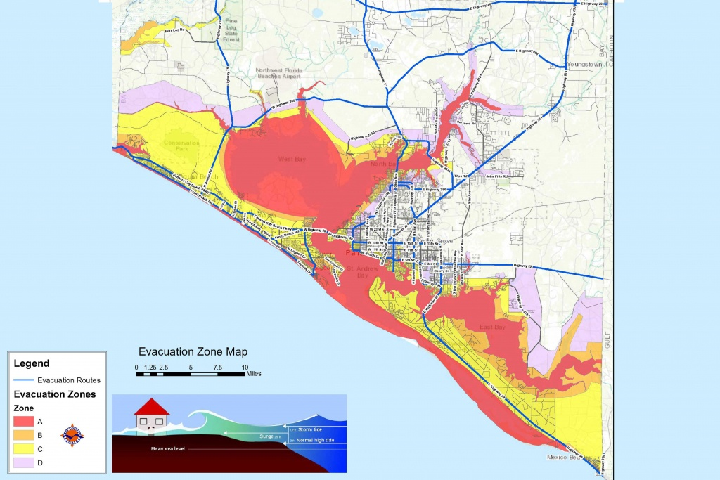 Bay County Issues Mandatory Evacuation Orders For Zones A, B And C - Florida Hurricane Evacuation Map