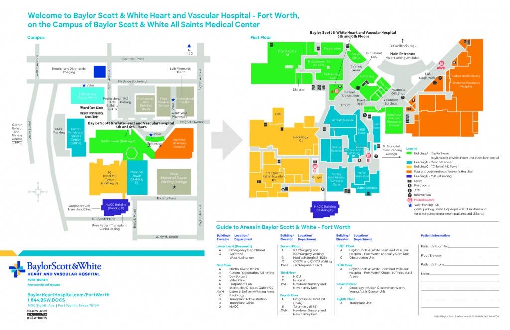 Baylor Scott & White Heart And Vascular Hospital - Directions - Fort - Baylor Hospital Dallas Texas Map