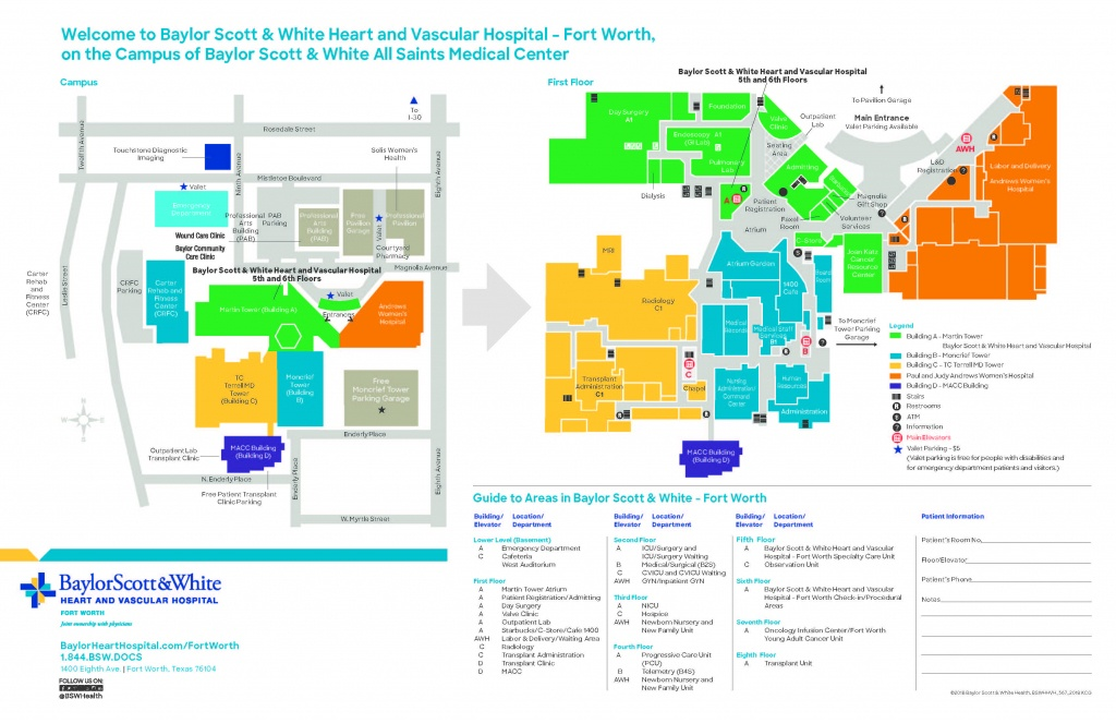Baylor Scott & White Heart And Vascular Hospital - Directions - Fort - Texas Health Dallas Map