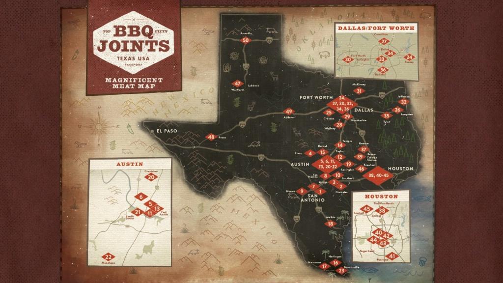 Bbq Passport - Texas Bbq Trail Map