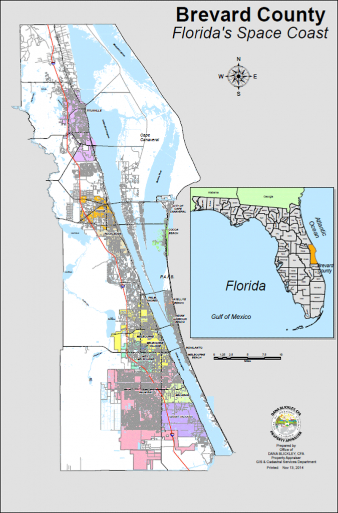 Bcpao - Maps & Data - Satellite Beach Florida Map