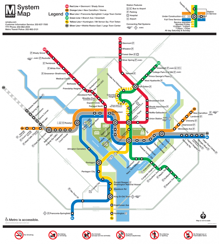 Be Ready For Metro Changes June 25, 2017 | Wmata - Washington Dc Subway Map Printable